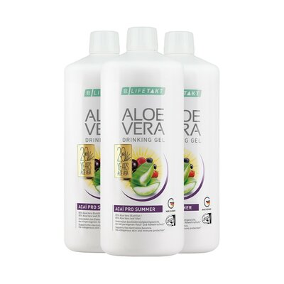 Aloe Vera Drinking Gel Açaí Pro Summer 3er Set, 3000.00 ml