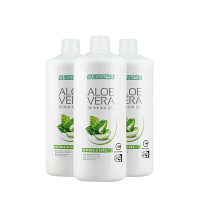 Aloe Vera Drinking Gel Intense Sivera 3er Set, 3000 ml