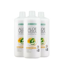 Aloe Vera Drinking Gel Traditionell mit Honig 3er Set,...